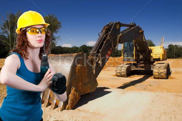 女性 建設作業員 仕事 サイト 女性 女性 ストックフォト © piedmontphoto