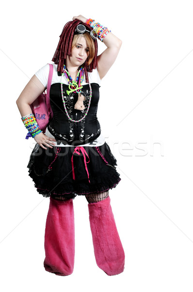 Rave meisje jonge vrouw partij dans vrouw Stockfoto © piedmontphoto