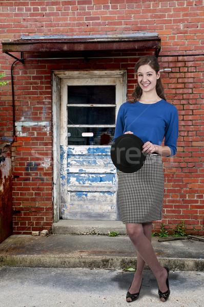Kobieta hat piękna młoda kobieta dziewczyna Zdjęcia stock © piedmontphoto