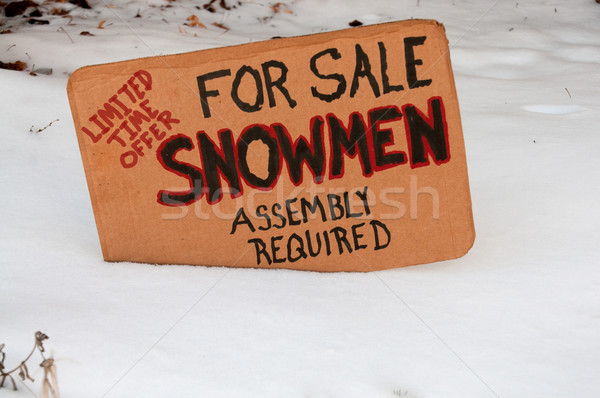 Snowmen for sale Stock photo © piedmontphoto