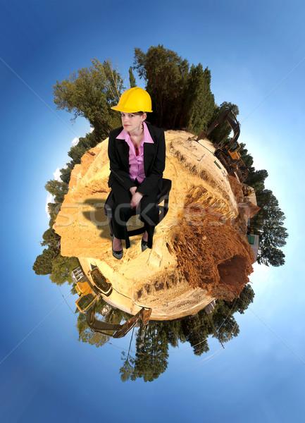 Kobiet pracownik budowlany pracy kobieta świecie Zdjęcia stock © piedmontphoto