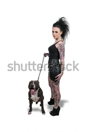 женщину нападение винтовка красивой Сток-фото © piedmontphoto