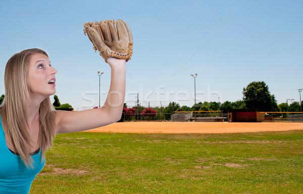 Baseball pálya közösség park otthon mező zöld Stock fotó © piedmontphoto