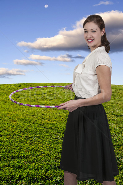 Woman with Hula Hoop Stock photo © piedmontphoto