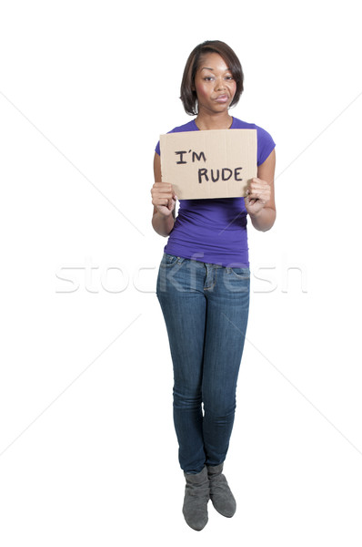 Beautiful Rude Woman Stock photo © piedmontphoto