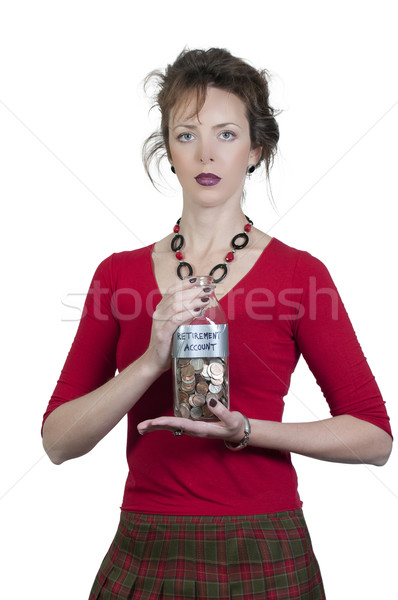 Woman Holding Her Retirement Account Stock photo © piedmontphoto
