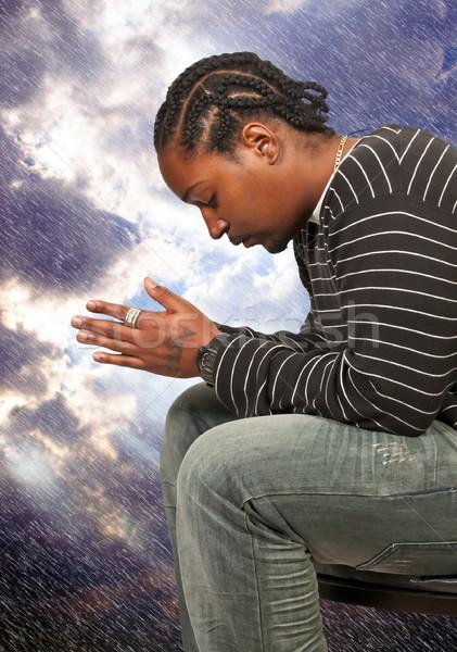 Black man praying Stock photo © piedmontphoto