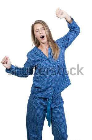Woman Waking Up Stock photo © piedmontphoto