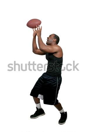 Hombre negro jugando fútbol negro hombre Foto stock © piedmontphoto