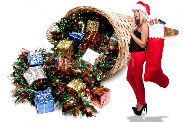 美人 贈り物 ストッキング クリスマス ギフト ストックフォト © piedmontphoto