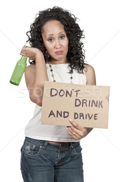 Woman Holding Sign Stock photo © piedmontphoto