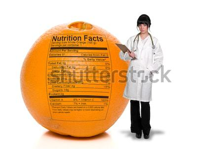 Orange Nutrition Facts Stock photo © piedmontphoto