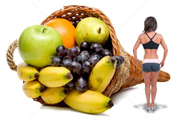 Fitness model piękna gotowy konkurencja kobieta Zdjęcia stock © piedmontphoto