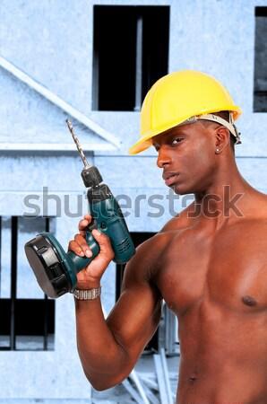 女性 建設作業員 黒人女性 アフリカ系アメリカ人 ワーカー ストックフォト © piedmontphoto