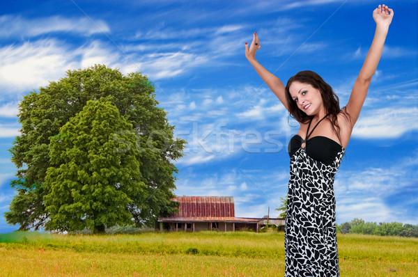 女性 アレルギー 美人 冷たい 乾草 発熱 ストックフォト © piedmontphoto