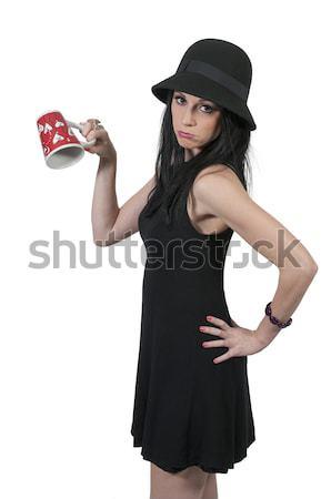 女性 ワイン 美人 ボトル 少女 ストックフォト © piedmontphoto