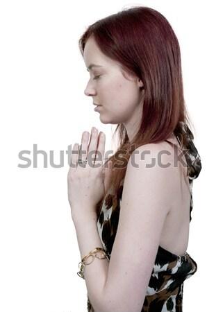 Stock photo: Woman praying