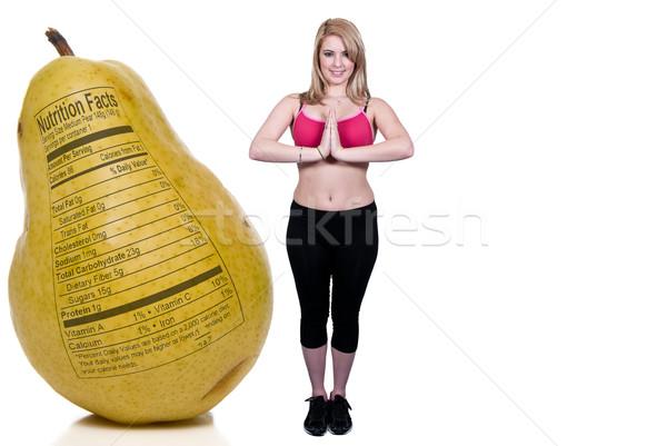 Kobieta jogi piękna kobieta postawa dziewczyna pracy Zdjęcia stock © piedmontphoto