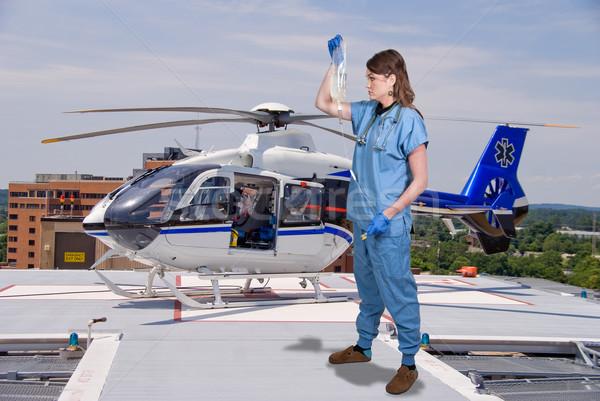 Arts mooie jonge vrouw ziekenhuis geneeskunde Stockfoto © piedmontphoto