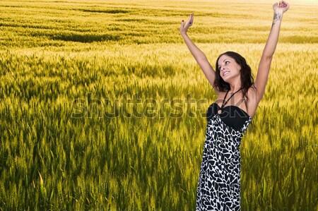 女性 鼻をかむ 美人 冷たい 乾草 発熱 ストックフォト © piedmontphoto