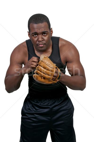 野球選手 黒 アフリカ系アメリカ人 男 野球 準備 ストックフォト © piedmontphoto