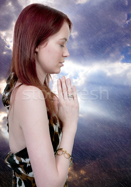 Woman praying Stock photo © piedmontphoto
