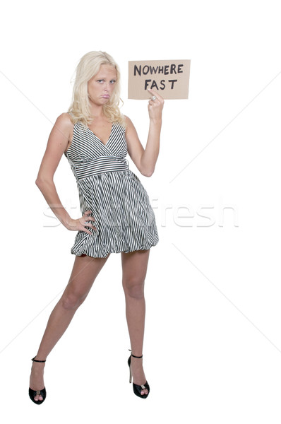 Woman Holding Sign Stock photo © piedmontphoto