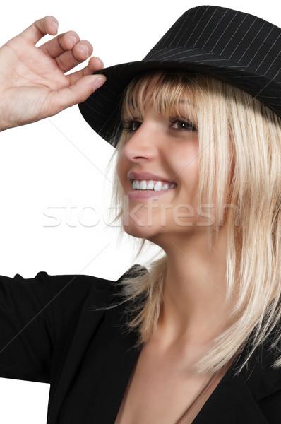 美人 美しい 若い女性 フェドーラ 帽子 少女 ストックフォト © piedmontphoto