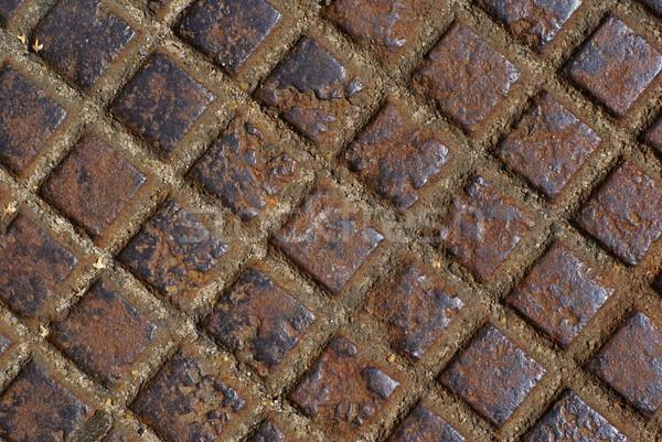 Rusty metal checker. Stock photo © Pietus