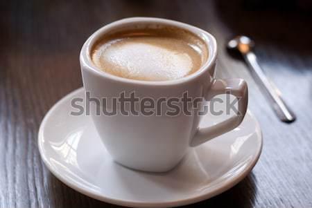 Beker koffiekopje koffie cafe tabel ondiep Stockfoto © Pietus