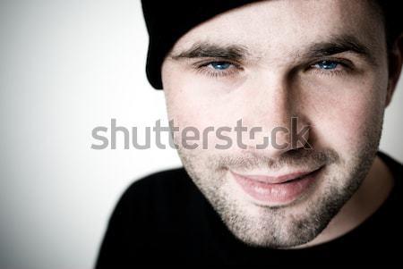 Retrato joven atención selectiva ojos feliz fresco Foto stock © Pietus