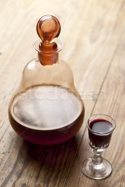 Likőr öreg antik üveg hagyományos kopott Stock fotó © Pietus