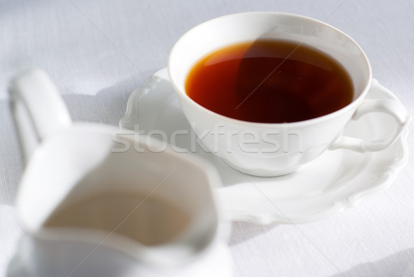 Stockfoto: Beker · thee · focus · porselein · witte