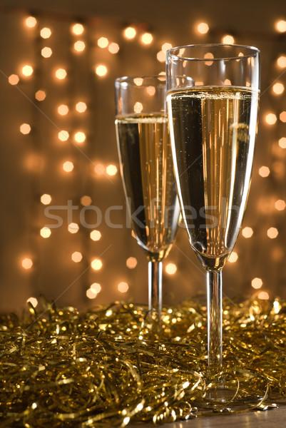 Two champagne flutes. Stock photo © Pietus