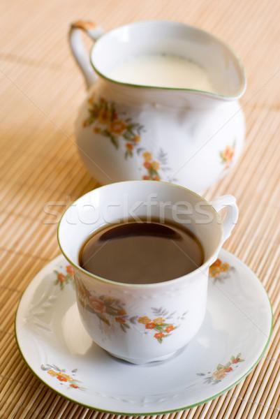 Kahve fincanı fincan kahve siyah çay Stok fotoğraf © Pietus