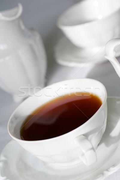 Kubek herbaty skupić środkowy krawędź Zdjęcia stock © Pietus