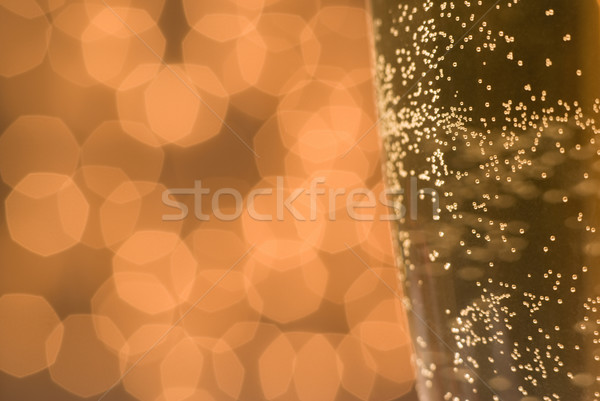 Burbujas luces vidrio champán cerveza detalle Foto stock © Pietus