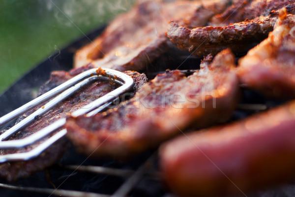 Barbecue closeup Stock photo © Pietus