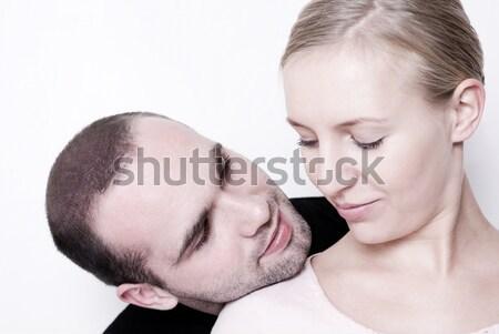 çift bakıyor diğer odak gözler Stok fotoğraf © Pietus