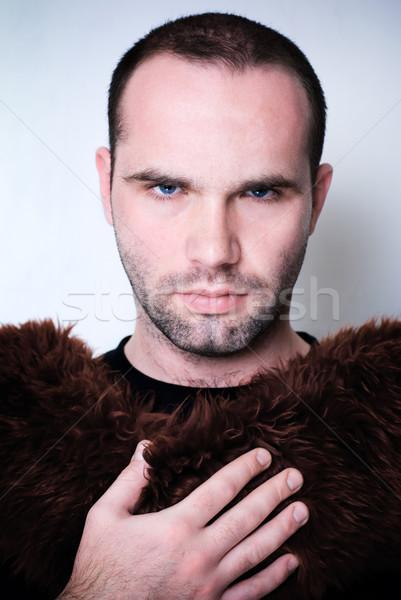 Retrato jóvenes hombre guapo moda joven superficial Foto stock © Pietus