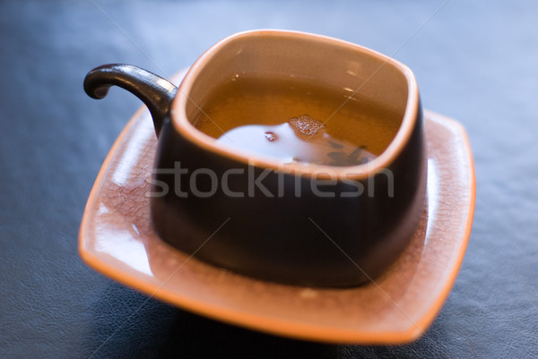 Groene thee beker vers thee focus vloeibare Stockfoto © Pietus