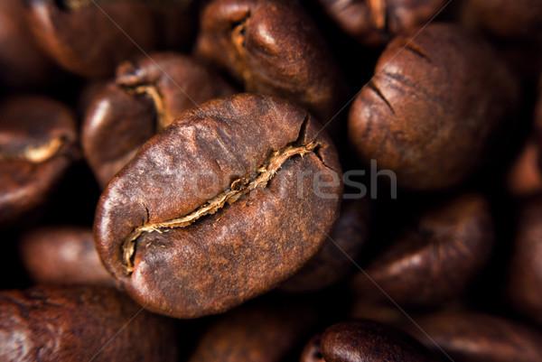 Koffie zaad zwarte donkere graan Stockfoto © Pietus