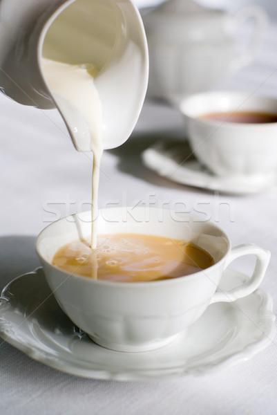 Melk porselein beker keuken Stockfoto © Pietus