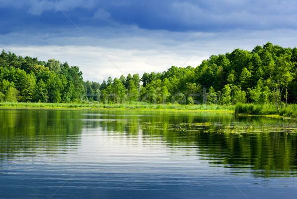 озеро лес красивой мнение ярко интервал Сток-фото © Pietus