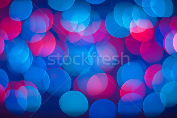 Wazig lichten levendig abstract Blauw Rood Stockfoto © Pietus