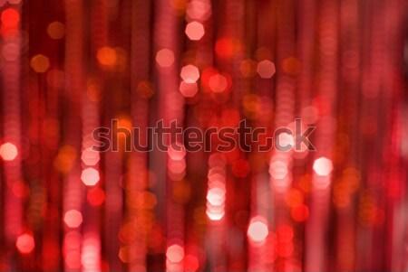Zamazany światła dekoracyjny christmas refleksji streszczenie Zdjęcia stock © Pietus