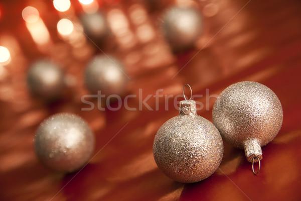 Navidad chuchería superficial campo enfoque Foto stock © Pietus