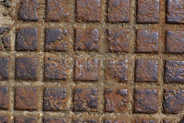Roestige metaal abstract achtergrond oranje industriële Stockfoto © Pietus