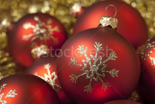 Christmas decoratief goud decoratie sneeuwvlok Stockfoto © Pietus