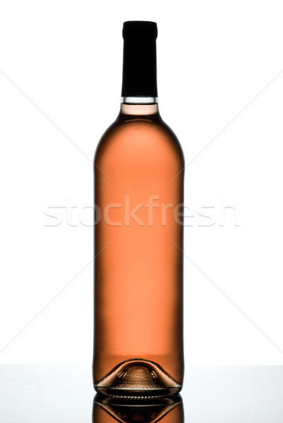 Steeg wijnfles geïsoleerd witte wijn oranje Stockfoto © Pietus